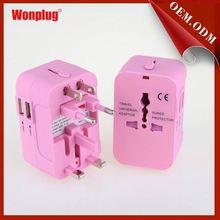 Wonplug 2014 the newest 5V/2.1A dual USB iceland travel adapter plug socket