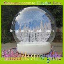 2015 Christmas inflatable snow globe/X-mas inflatable snow ball for photo