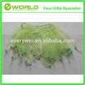 New Hot sale party festival crazy transparent kids light green short silk skirt
