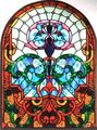 คริสตจักรในหน้าต่างกระจกสีที่แตกต่างกันรูปร่างและขนาดที่ทำในจีน