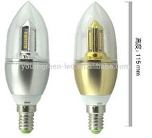 5 Years Quality Guarantee CE RoHS UL manufacture warm white e12 led candle