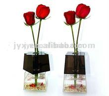 2014 Fashion rectangle acrylic vases wholesale for rose