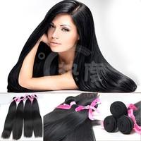 wholesale Straight hair weave natural black straight hair 100% virgin indian remy temple silk straight hair