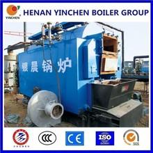 Screw pipe 3 pass 1-30t/h wood pellet boiler high temperature stove paint