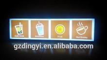OEM popular Cold drink shop menu display led light box