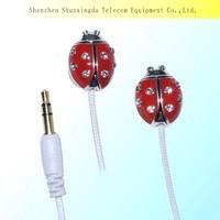 SXD 2014 hot sale earphone earbuds manufacturing new metal earphone mobile accessory