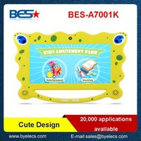 Popular product Christmas gift Boxchip A23 7 inch easy touch colorful learning tablet for kid