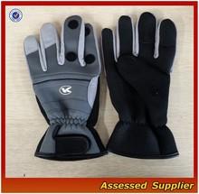 2 mm Winter Good protective 3 cut finger Neoprene Fishing gloves QHJT-9