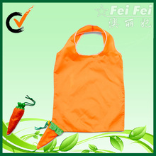 Carrot Promote foldable nylon bag shopping