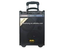 dual 8 inch 75watt usb portable speaker sd card