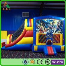 inflatable bounce houses Slide combination,PVC plato tarpaulin Batman inflatable bouncers