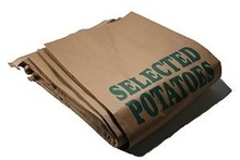 Logo Imprint Food Grade 25kg Kraft Paper Bag