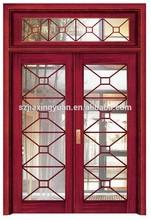 Main entrance glass insert solid wood door