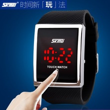 Japan Movt SKMEI LED Watch Boys and Girls Waterproof custom logo touch screen watch