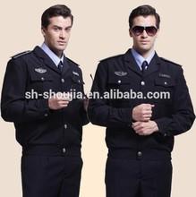 2014 nuevo diseño de seguridad uniformes de la guardia negro, de alta calidad de ceremonial militar uniforme, personalizar la guardia personal de uniforme