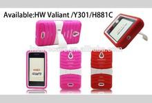 Stand case for huawei , popular design inbuilt detachable stand case for huawei Valiant Y301 H881c