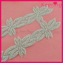 New design silver bridal trim rhinestone for dress decoration WRA-621