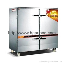 luxury professional Stainless Steel double door electric rice Steamer Cabinet MADE IN Guangzhou NewPower