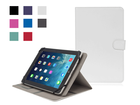 "Hot selling Universal 10"" leather case flip leather case with stand white color"