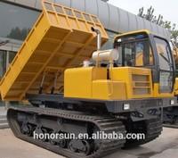 wood transporting heavy duty crawler carrier/transporter/dumping truck
