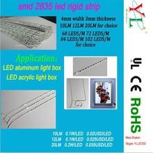 2835 SMD 4mm or 3.2mm width 12 volt rigid led strip