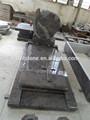 El azul del himalaya granito en forma de corazón lápida ángel/lápida/lápida