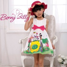 Newest design white charming apparel baby girls dress