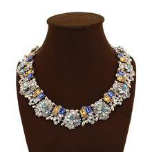 Wholesale Costume Jewelry Mix Crystal Rhinestones Big Bib Collar Chunky Neckalce