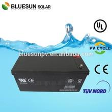 Bluesun SGS Certificate agm solar battery 200 ah