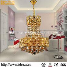 Classic design spiral shape crystal Gu10 hanging lamp