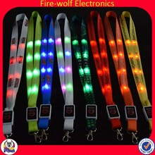 2014 New Products Corporate Gift Led Neck Sublimation Id Card Ribbon Lanyard Neck Strap
