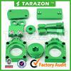 Kawasaki KXF250 High Quality CNC Billet Aluminum Green Bling Spare Parts Kits