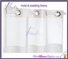 hookless hotel shower curtain, hookless bath curtain-water proof fabric (180*180cm),
