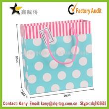 2015 USA Popular custom logo design matte glossy laminated art paper bag