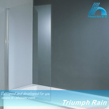 AOOC1401CL square tempered glass frameless bath & shower screen
