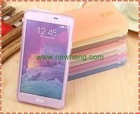 Flip Cover Soild TPU Soft Case For Samsung Galaxy Note 4
