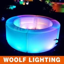 plastic 150cm led round table sale