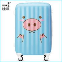 high quality hard plastic trolley case travel luggage bag trolley case set suitcase