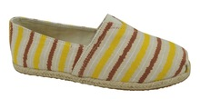Ladies' Flat Casual Canvas Shoe,Rubber Sole/Canvas Upper/Printed Lining/Pigskin Sock, Sized 36-41#