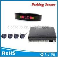 Auto intelligent electronics products Led parking detector sensor backing radar with 4 rear sensors and Bibi sound warning alert