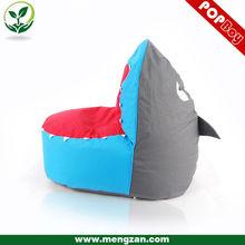 children blue shark bean bag sofa