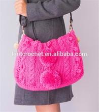 crochet handbag,knitted bag, wool knitted bag