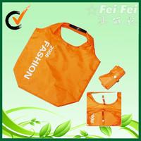 Promote reusable nylon foldable shopping bag