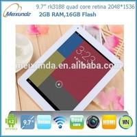 Retina screen 2gb ram 32gb aluminium alloy shell high quality android 4.1 tablet pc flash player
