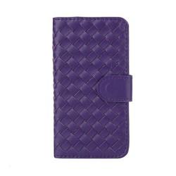 Phone case weave design PU flip pu leather case for iphone 5