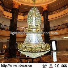 angel big hotel crystal led chandelier