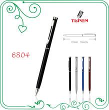 copper barrel metal twist ball pen with cross pen refills