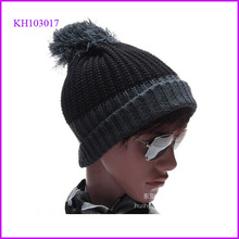 custom beanie winter hat mens knit bobble hat