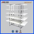 Premium modern white MDF display shelf for shops
