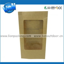 Contemporary stylish kraft paper coffee tea bag with ziplock